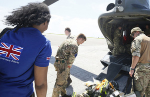 UK staff prepare to join a humanitarian needs assessment mission in Dominica.