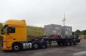 Novapak B stainless steel containers being transported