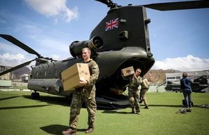 UK aid arrives in Dominica. Picture: MOD