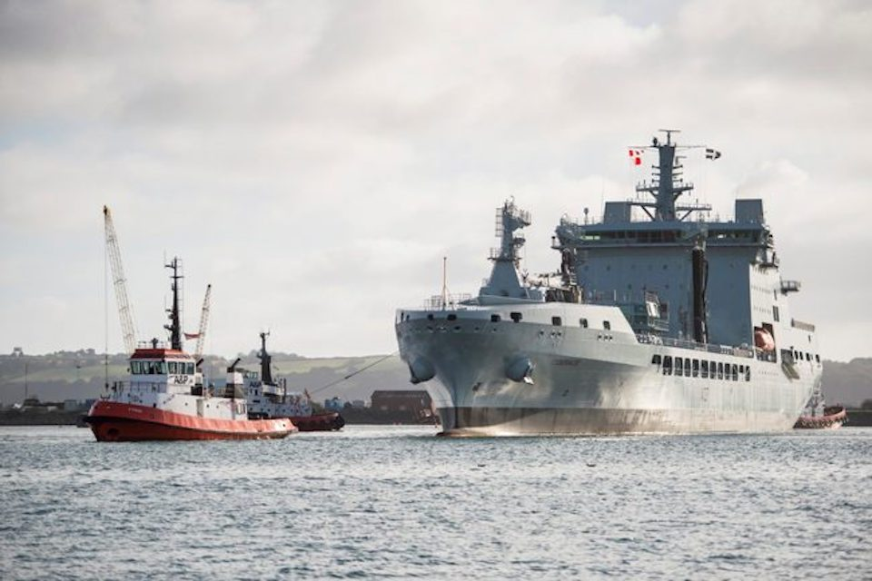 The second MARS tanker, RFA Tiderace, arrived in Falmouth this morning.