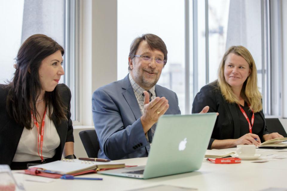 Innovate UK's Ewa Bloch Kevin Baughan and Katrina Heyter