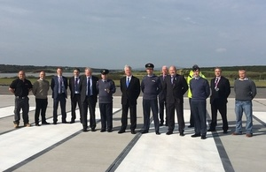 The Defence Secretary visited RAF Valley this afternoon.