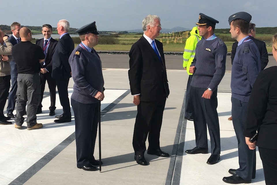 The Defence Secretary met with personnel from RAF Valley this afternoon in North Wales.
