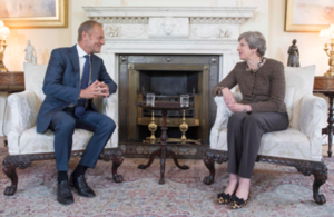 Prime Minister Theresa May with European Council President Donald Tusk.