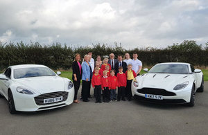 Secretary of State for Wales Alun Cairns joins Aston Martin apprentices to promote STEM careers to St Athan Primary pupils