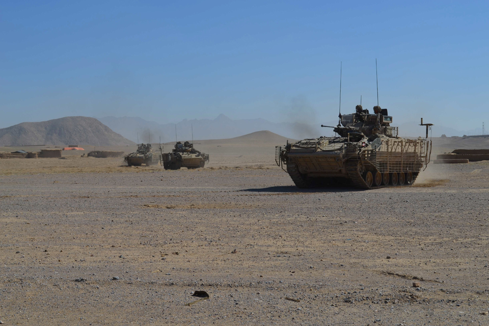 British Army Warrior fighting vehicles