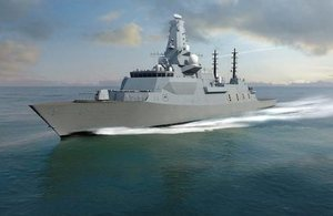 A concept image of the new Type 26 frigate, one of which will be called HMS Belfast.