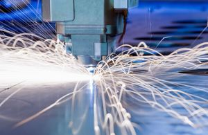 Advanced manufacturing steel producstion, sparks flying