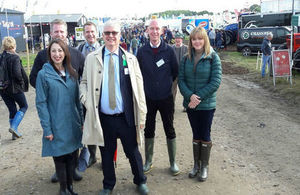 Embassy staff at the National Ploughing Championships