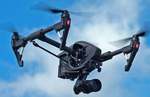 DJI Inspire 1 Pro with a camera.