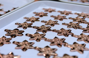 Arctic Star medals being produced at the Royal Mint Cardiff [Picture: Petty Officer (Photographer) Gaz Armes, Crown copyright]