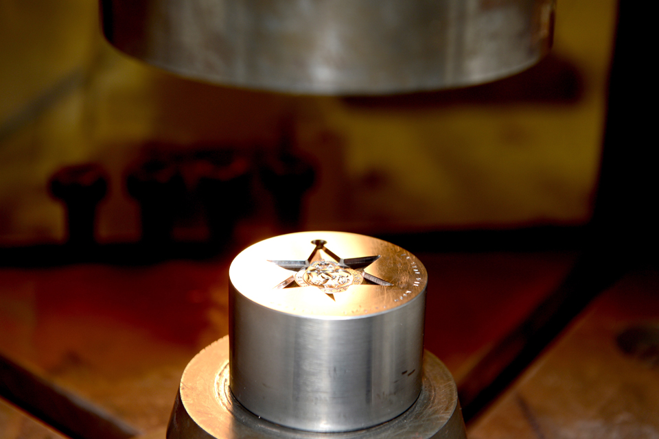 Arctic Star medals being produced at the Royal Mint Cardiff