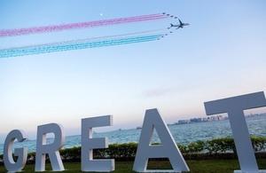 Red Arrows in Qatar 2017
