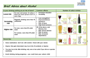 Brief advice about alcohol sheet