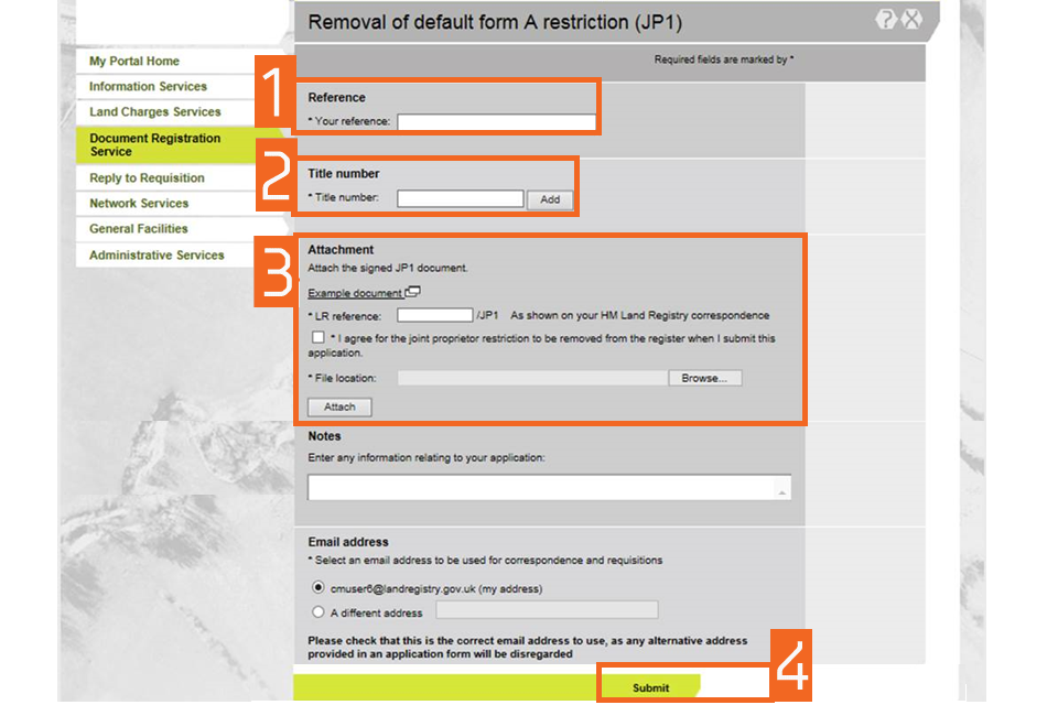 Land Registry Tr1 >> Hm Land Registry Portal Electronic Document Registration