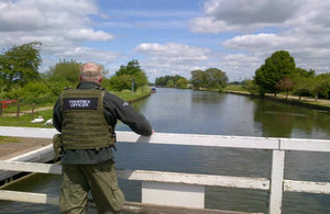 Environment Agency enforcement officer on a patrol