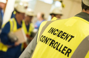 Emergency exercise on the Sellafield site
