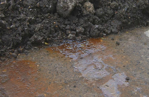 Leachate from a pile of waste stored at Avonmouth