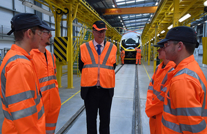 Chris Grayling on Alstom visit