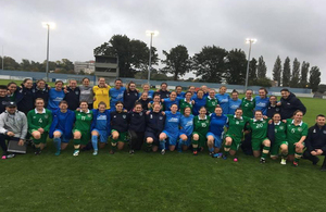 RAF and Irish Defence Forces teams
