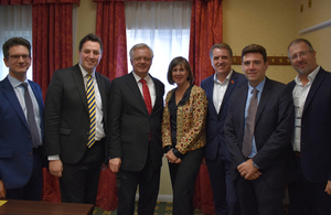 David Davis and Steve Baker with the Northern Combined Authority Mayors