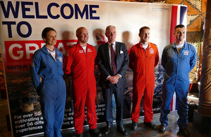 Lord Astor and the Red Arrows team