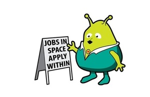Space jobs graphic