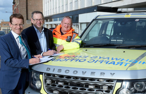 Image of Jim O'Sullivan and traffic officers