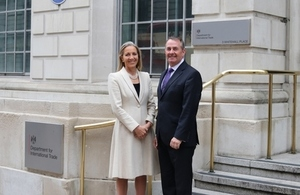 Baroness Rona Fairhead with Dr Liam Fox