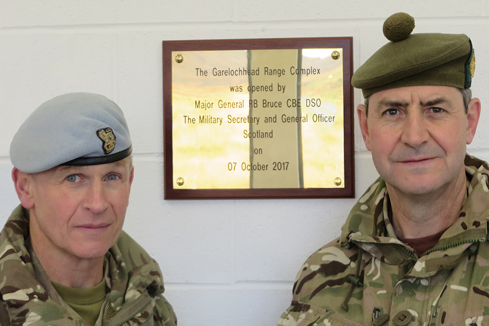General Bob Bruce and Brigadier Neil Dalton at the official opening. Crown copyright.