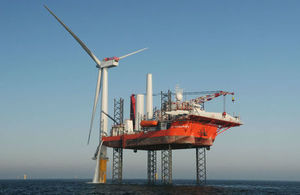 Offshore wind farm construction