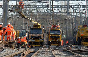 railway being constructed