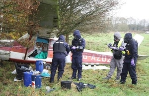 Image of plane crash that potentially contains hazardous substances