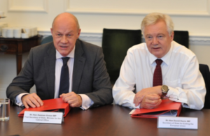First Secretary of State Damian Green MP and Rt Hon David Davis MP