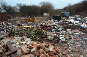 Waste deposited on the land