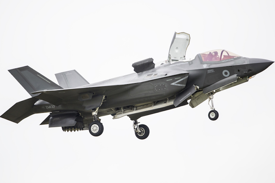 The cutting-edge F-35 fighter jet.