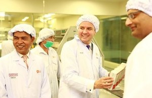 The UK Minister for Trade Policy Greg Hands visited GlaxoSmithKline's factory in Karachi