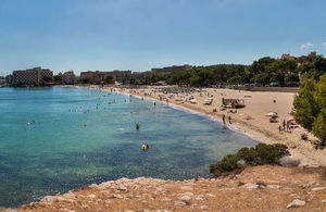 A beach in Mallorca, Spain.