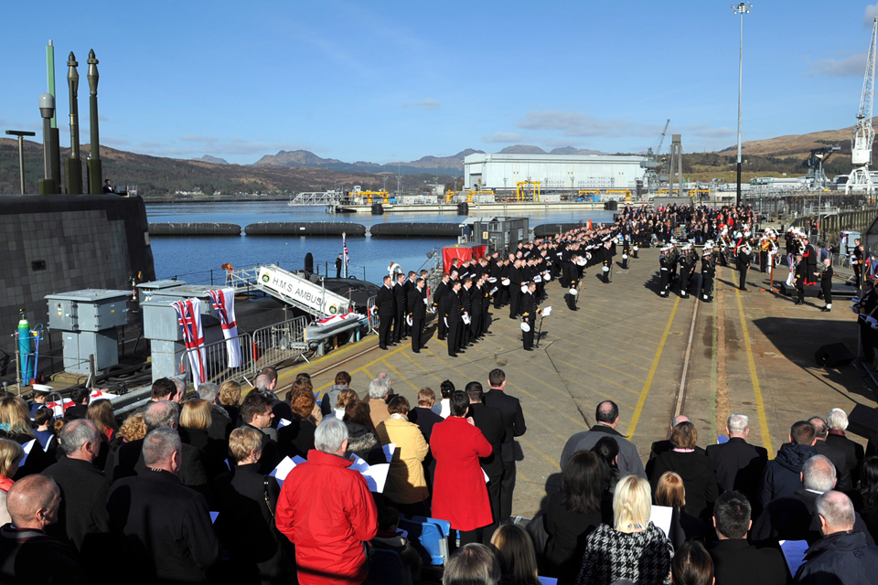 HMS Ambush is commissioned into service