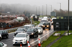 Roadworks on the A46