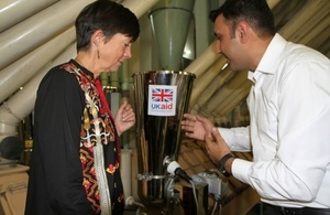 Joanna Reid, Head of DFID Pakistan, during her visit to the Data Flour Mill to inaugurate the equipment.