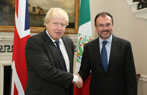 Foreign Minister Boris Johnson with Mexico Minister for Foreign Affairs.