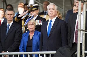 Defence Secretary Michael Fallon and his wife, Lady Fallon visits Scottish shipyards on the Clyde.