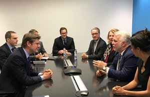 During the visit, Greg Clark held meetings with senior executives from both companies, as well as Canadian and Quebec Government Ministers