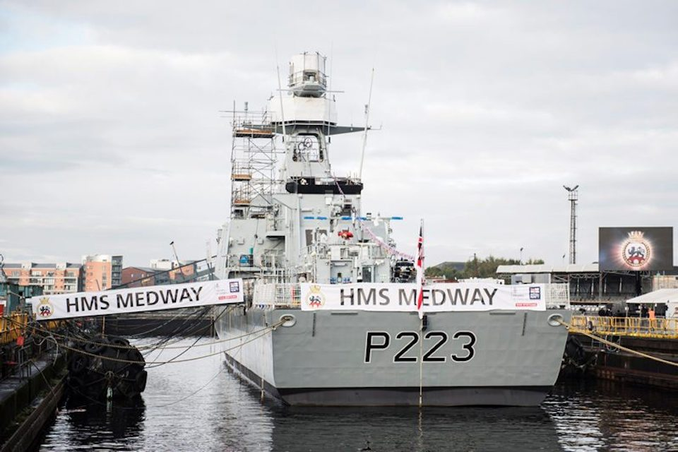 HMS Medway is the second of the Royal Navy's new Offshore Patrol Vessels.