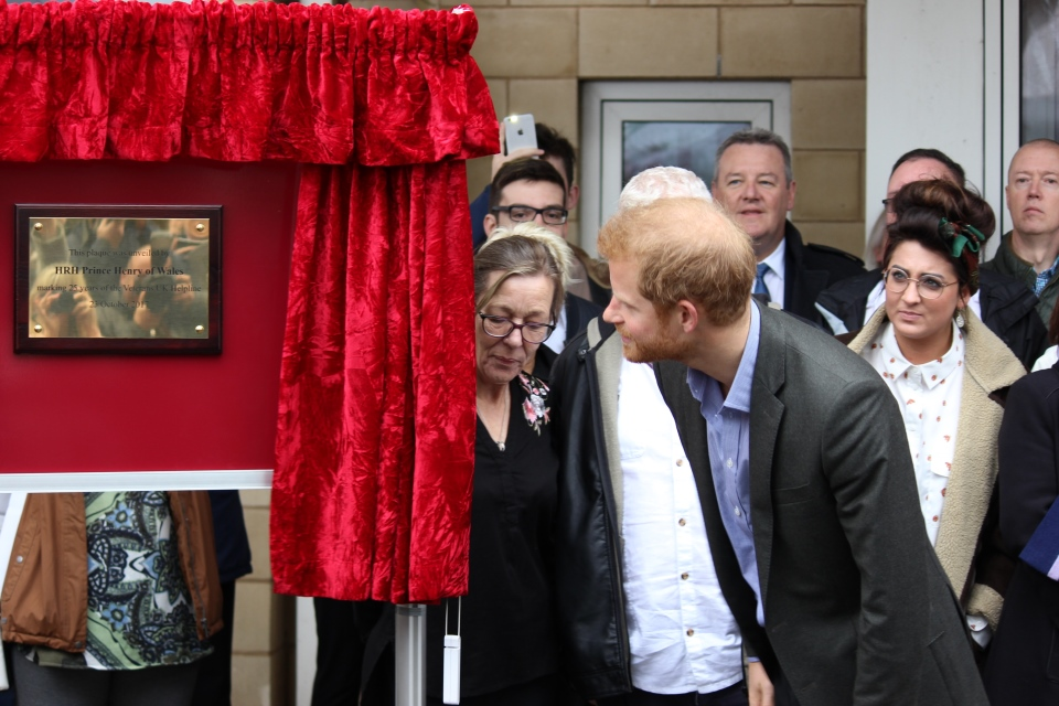 Prince Harry unveils a plaque to commemorate 25 years of the Veterans UK Helpline, Crown Copyright, All Rights Reserved