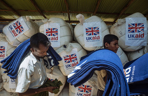 UK aid for Rohingya refugees in Bangladesh