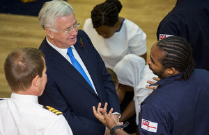 The Defence Secretary Sir Michael Fallon committed to boosting diversity in the Armed Forces