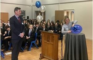 Education Secretary Justine Greening opens new buildings at Oakwood High School in Rotherham