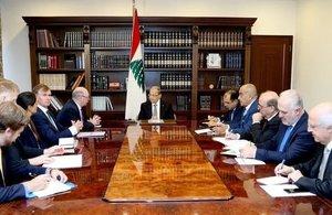 Minister Burt with President Michel Aoun